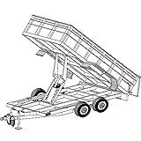 """14'x6'4"""" Hydraulic Dump Trailer Plans Blueprints, Model 14HD"""