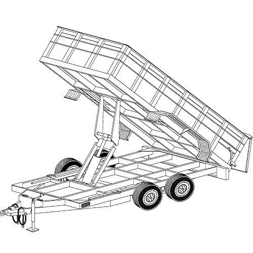 14'x6'4' Hydraulic Dump Trailer Plans Blueprints, Model 14HD