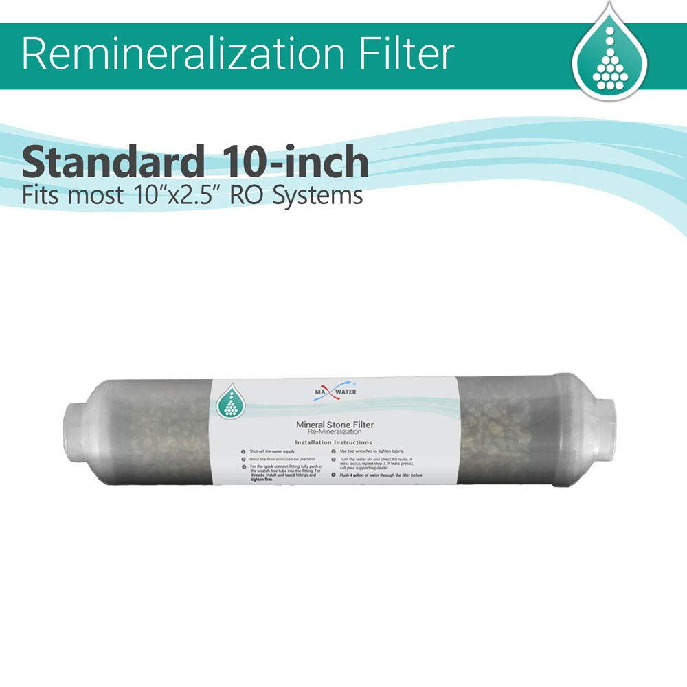 Mineral inline 10''x 2'' water filter for re-mineralization reverse osmosis system