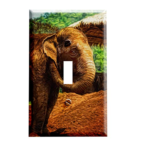Gotham Decor Elephant Safari Animal Switchplate/Switch Plate ()
