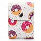 Woodmin PU Leather Storage Bag for 3 Inches Photos, Films and Fujifilm Instax Close-up Lens filters of Fuji Mini 8 8+ 9 7s 70 90 25 50(Donut)