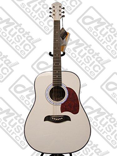 Oscar Schmidt OG2 Dreadnought Acoustic Guitar - White