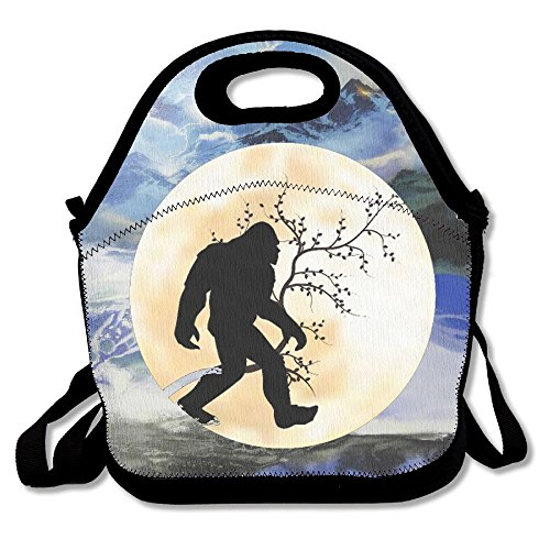Kkajjhd Full Moon Bigfoot Tote Bags And Velcro Tote Bags, Travel And Picnic For Adults, Boys And Girls (cats)