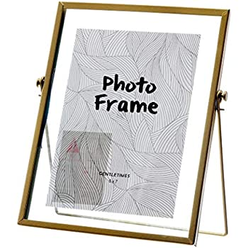 Amazon Com Koyal Wholesale Pressed Glass Floating Photo Frames 8 Pack With Stands For