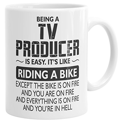 Drinkware Being Mug - Being TV Producer Bike On Fire Profession Coffee Mug Gift