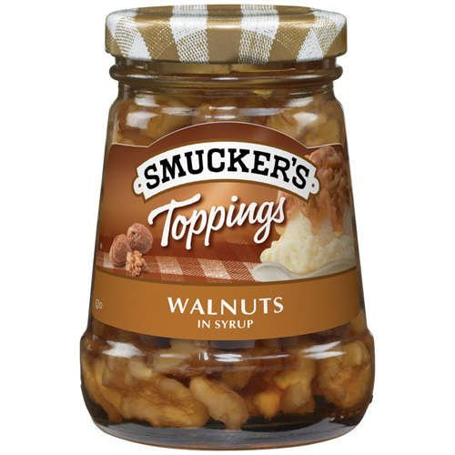 Smucker's Walnuts in Syrup Topping 5oz Jar (Pack of 3)