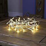 Festive Lights Indoor Fairy Lights - 40 Warm White LEDs - Clear Cable by
