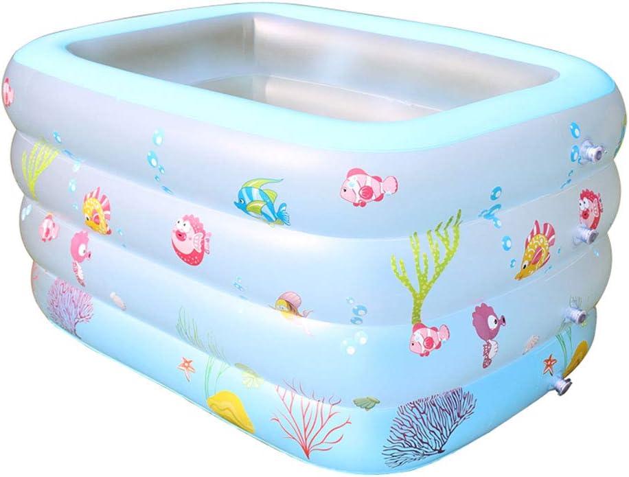 CIGONG Piscina Termal para niños, Inflable, para bebés, para bebés, Piscina Inflable para Interiores, para Aumentar el Grosor de la bañera 140x100x70cm bañera