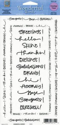 (Deja Views Greetings Wonderful Words Scrapbook Stickers (WW180))