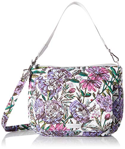 Vera Bradley Laptop - Vera Bradley Carson Shoulder Bag, Signature Cotton, Lavender Meadow