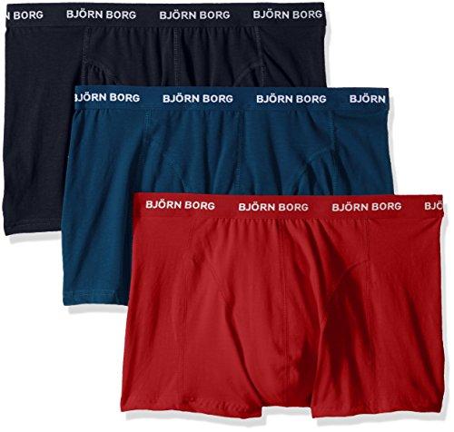 Bjorn Borg Men's 3-Pack Seasonal Solids Boxer Brief -  Bjorn Borg Men's Underwear