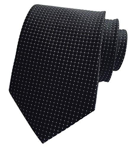 Silk Plain Cravat Ties Jacquard Woven Necktie Best Xmas Gift (Xmas Necktie)