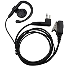 2-Pin Ear-Clip Earpiece Headset for Motorola Two Way Radio cls1110 cls1410 cls1413 cls1450 cls1450c etc
