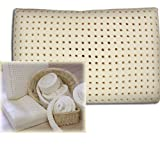 Certified Organic Solid Natural Rubber Latex Pillow - Neck Support (Queen)