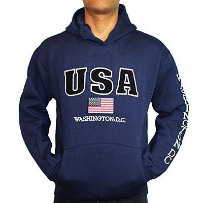 Washington DC Navy USA Hoodie (No-Zip)