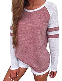 Shirts Clearance - Women's Long Sleeve Splice Blouse Tops Ladies Clothes Tee Shirts