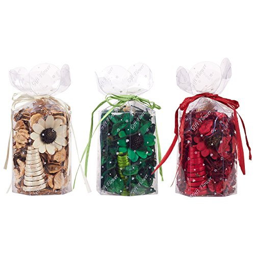 Potpourri Bags - Scented Potpourri, Potpourri for Bathroom, Fragrance Bag for Living Room, Office, Bedroom, Assorted Colors and Fragrances - 4 x 8 x 3.5 Inche 3pack Large by Juvale