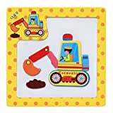 callm Educational Toy,Puzzle Toy Wooden Magnetic Puzzle Educational Developmental Baby Kids Training Toy-Ostrich/Giraffe/Aircraft