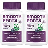 Smartypants Adult Probiotic Complete Blueberry (Pack of 2) with Beta-Glucan Immune Support, 60 Gummies per Bottle