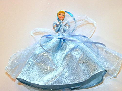 Disneyland Disney World WDW Parks Set All 8 2014 Princess Doll Evening Tuile Gown Dress Ariel Belle Jasmine Snow White Aurora Rapunzel Tiana Cinderella Holiday Ornaments Figurines by Disney (Image #2)