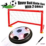 [Upgraded]Hover ball - Bdwing Kids Toys Soccer Goal Set, Size 4 Air Power Soccer with 2 Gates, Boys Girls Sport Training Football, Indoor or Outdoor Activities (Hover Ball Gate Set)