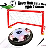 air ball toy - [Upgraded]Hover ball - Bdwing Kids Toys Soccer Goal Set, Size 4 Air Power Soccer with 2 Gates, Boys Girls Sport Training Football, Indoor or Outdoor Activities (Hover Ball Gate Set)
