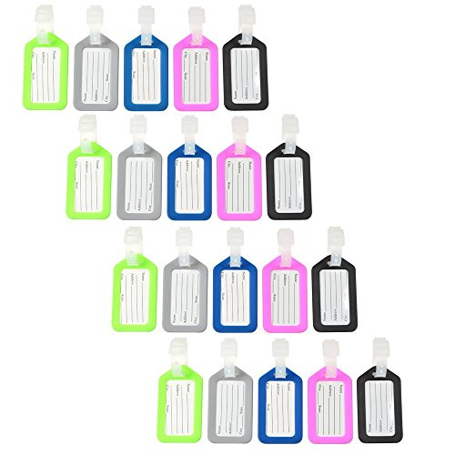 KLOUD City Assorted Colors Travel Accessories Luggage Tag Identifier with Name Card...