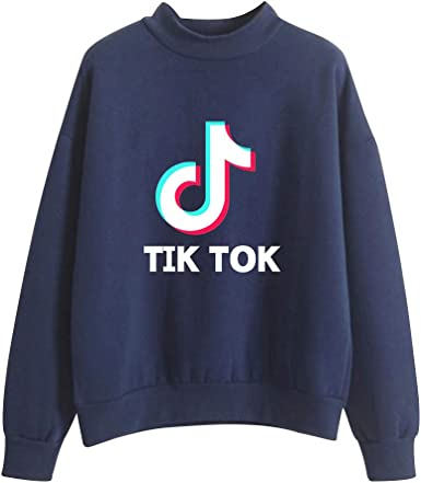 Sudadera Unisex Cuello Alto Manga Larg sin Capucha Camiseta Impreso TIK TOK Hip Hop Sweatshirt Hoodie Tops Casual: Amazon.es: Ropa y accesorios