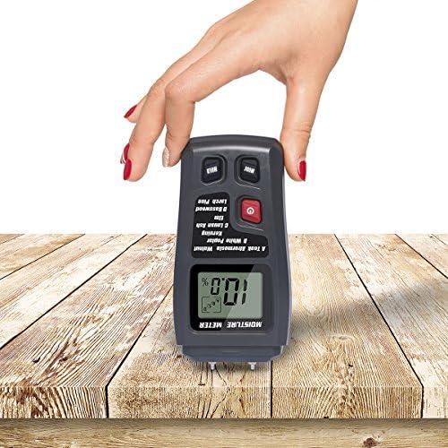 pantalla LCD Medidor de humedad de madera detector de fugas de agua sensor de humedad en madera para hormig/ón y yeso