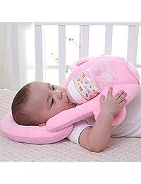 TPSKY Infant Nursing Pillow Multifunctional Spill-Proof Milk Pillow Newborn Feeding Pillow Baby Artifact Anti-Spitting Pillow A Good Helper for mom Pink