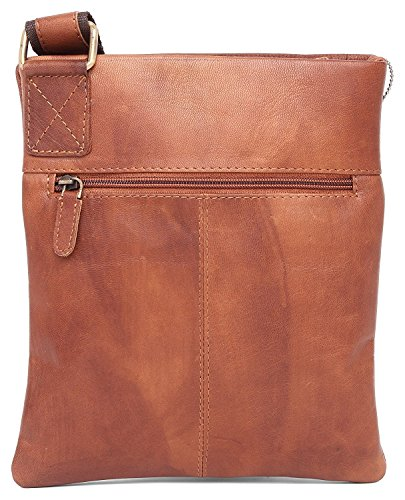 Tan iPad Leather Shoulder Everyday Hunter Vintage Pure Distressed Crossover Leather Messenger Real Mens Work Handmade Genuine 100 Bag TnfqOBq