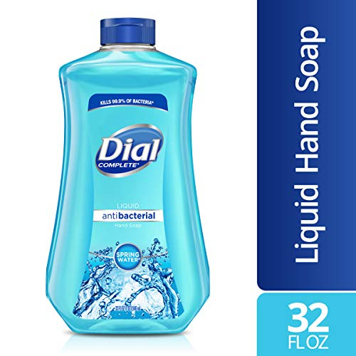 Dial Antibacterial Liquid Hand Soap Refill, Spring Water, 32 Fluid Ounces ()
