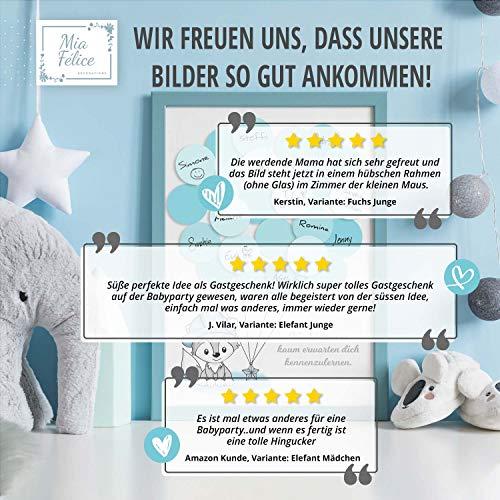 G/ästebuch Elefant Leinwand Kreis ideales Geschenk Baby Shower in Rosa f/ür M/ädchen Erinnerung Andenken zur Geburt Babyparty Taufe Deko Idee