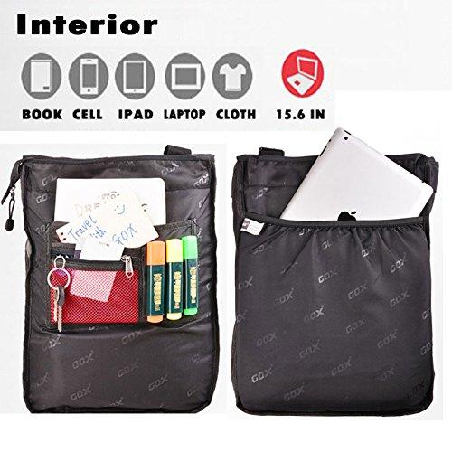 """Mochila 15.6"""", GOX hombres de 3 vías convertible impermeable negocio portátil ordenador portátil mochila / bolsa de mano bolsa de viaje / bolso de viaje (Negro) Azul"""