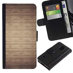 SAMSUNG Galaxy S5 V / i9600 / SM-G900 Modelo colorido cuero carpeta tirón caso cubierta piel Holster Funda protección - Pattern Beige Minimalist Horizontal