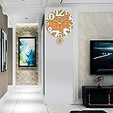 Modern minimalist fashion swing clock clock room mute quartz clock watch creative decorative clock,4861cm,brown