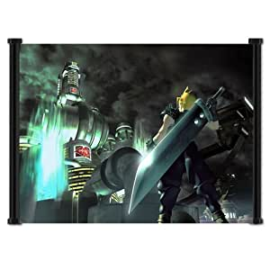 "Final Fantasy VII Cloud Game Fabric Wall Scroll Poster (21""x16"") Inches"