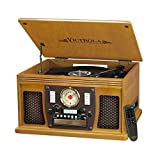 Victrola Record Player Best Deals - Victrola 7-in-1 Bluetooth Record Player with USB Recording, Oak