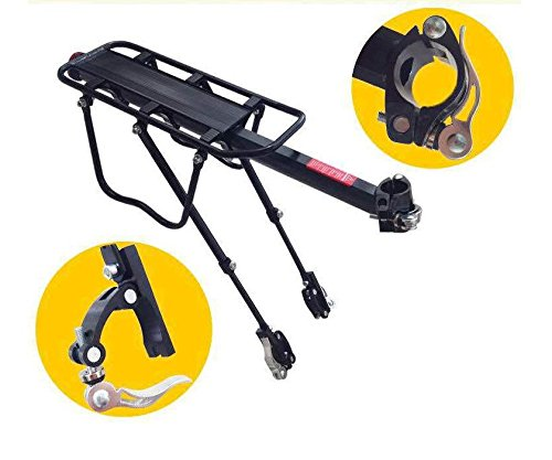 COMINGFIT Upgrade 110 Lb Capacity Aluminium Carrier Rear Bicycle Pannier Full Quick Release Rack with Reflector by COMINGFIT (Image #1)