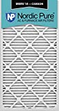 Nordic Pure 20x30x1M14+C-2 MERV 14 Plus Carbon AC Furnace Filter 20x30x1 Merv 14 Plus Carbon AC Furnace Filters Qty 2
