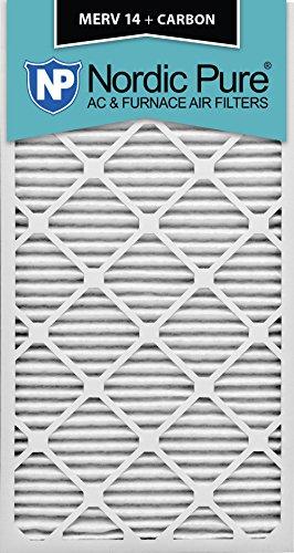 Nordic Pure 24x30x1M14+C-6 MERV 14 Plus Carbon AC Furnace Air Filters, Qty-6