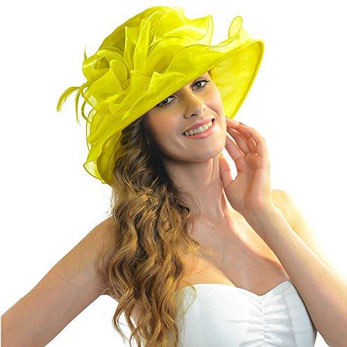 Women Satin Church Christening Derby Kentucky Wedding Formal Party Hat Ss035 (9 Colors)