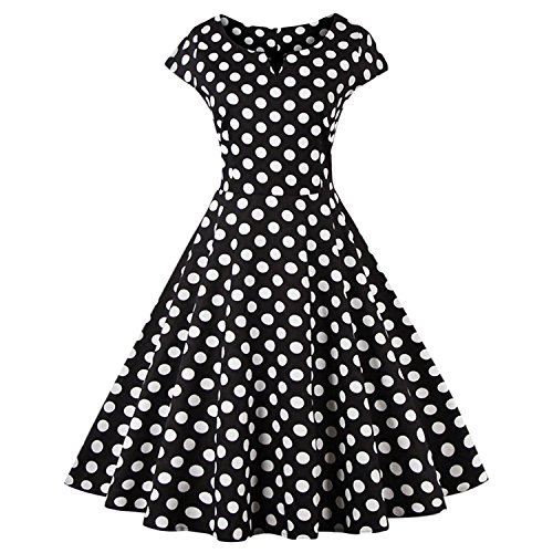 dextrad dress Plus Size Women Polka Dot Short Sleeve Oneck Cotton Dresses Party Dress Vestidos