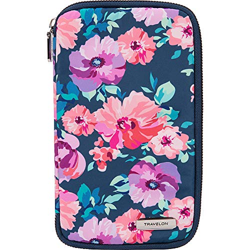 - Travelon RFID Blocking Family Passport Zip Wallet, blossom Floral