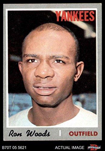 1970 Topps # 253 Ron Woods New York Yankees (Baseball Card) Dean's Cards 5 - EX Yankees