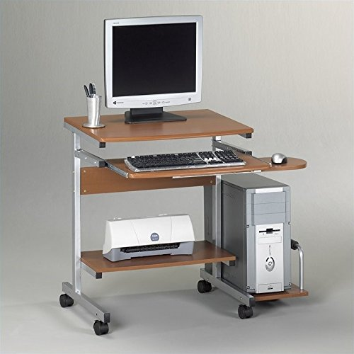 Mayline Small Home Office Portrait Pc Desk Cart,