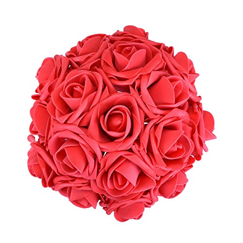 Febou Artificial Flowers, 100pcs Real Touch Artificial Foam Roses Decoration DIY for Wedding Bridesmaid Bridal Bouquets Centerpieces, Party Decoration, Home Display (Concise Type, - Diy Decorations Party