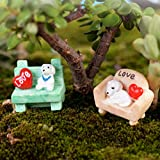 Mini Dog Sofa Miniature Landscape Decor Home Flower Pot Ornament Review