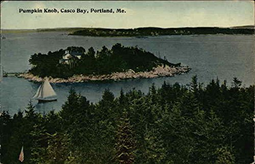 Casco Bay Portland Maine - Pumpkin Knob, Casco Bay Portland, Maine Original Vintage Postcard