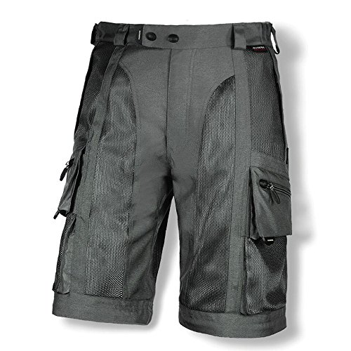 Olympia Moto Sports MP224 Men's Dakar Dual Sport Mesh Tech Pants (Pewter, Size 42) by Olympia Moto Sports (Image #2)